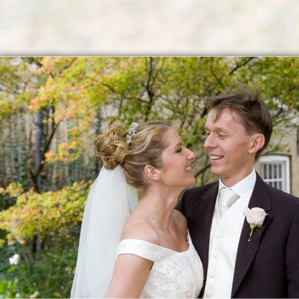 bruidskapsel nochalant opgestoken