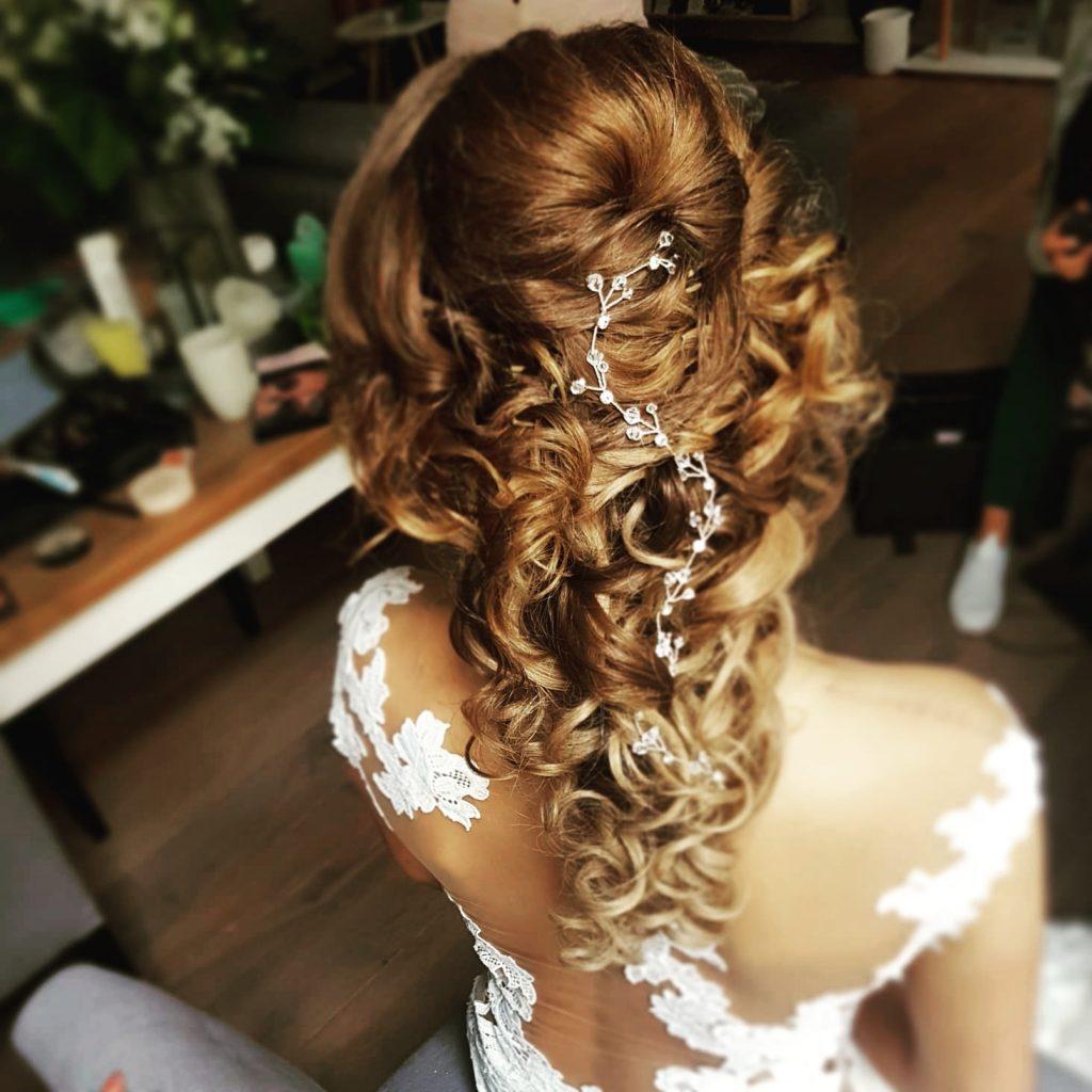krullen los bruidskapsel