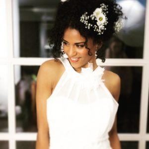 natural curl bruid