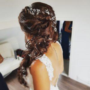 lange vlecht bruid
