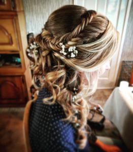 bloemen vlecht bruid